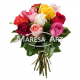 Bouquet multicolore de 10 roses