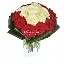 """17 roses """"rouges & blanches"""""""