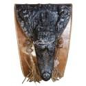 100% croc leather bag