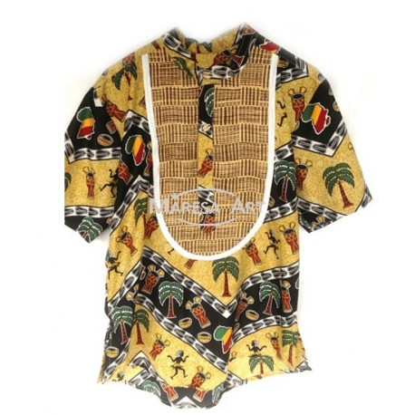 """Fabric & straw"" shirt"