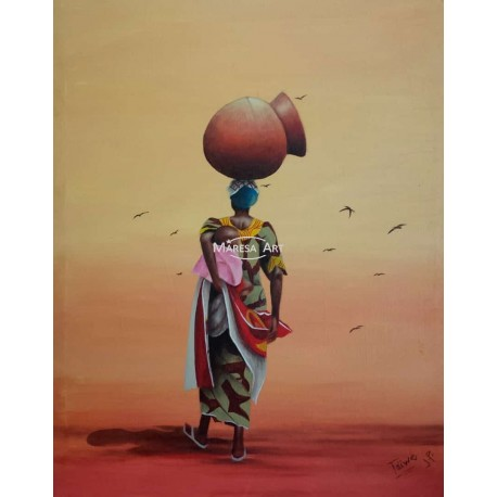 African painting on canvas