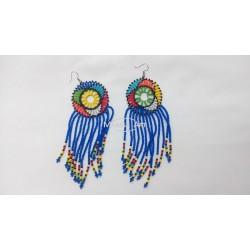 Boucles d'oreilles en perles Massaï