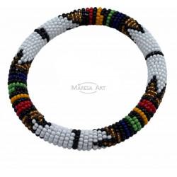 White Massai bracelet