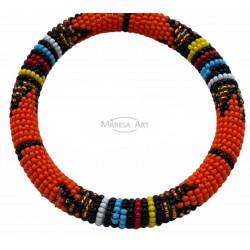 Orange Massai bracelet