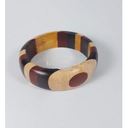 African bracelet in exotic wood