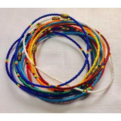 Set of 12 beaded bracelets