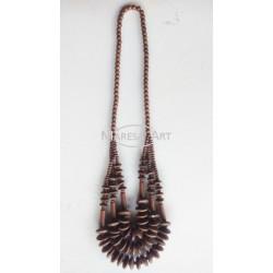 Traditional padauk wood necklace