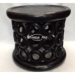Small ebony wood stool