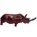 Rhinoceros carved wood