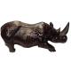 Rhinocéros en bois Padouk