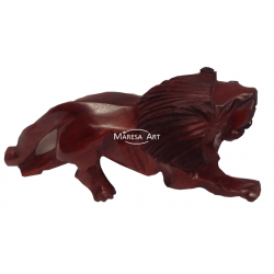 Lion carved wood