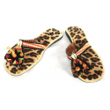 Babouche in panther fabric