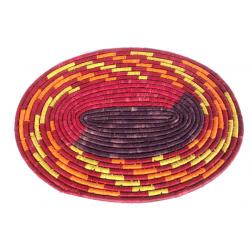 Sous-plat en fibres de raphia