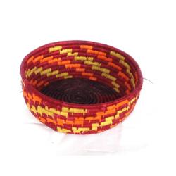 Panier de fibres de raphia