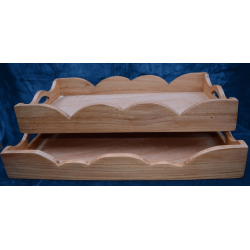 Set of rectangular trays