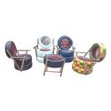 Rattan lounge