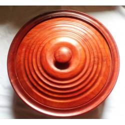 Assiette en bois de padouk