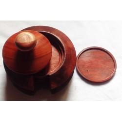 Sous-verres en bois padouk