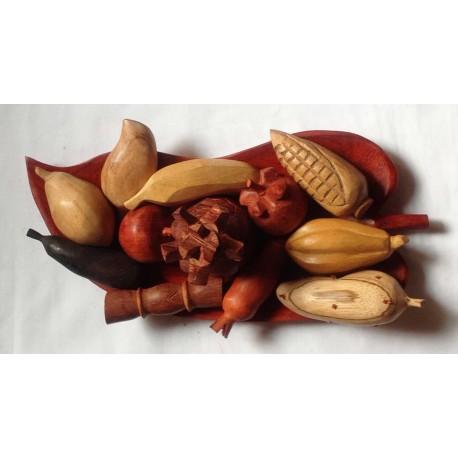 """Plateau de fruits """"multi-bois"""""""