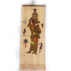 Tableau décoratif en paille